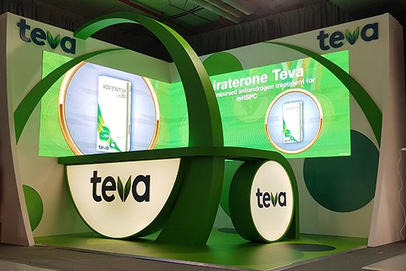 עיצוב ביתן Teva לתערוכה